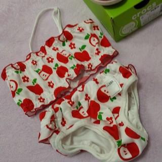 crocs - 女の子 10ヶ月〜2歳 水着 サンダル セット 記名なし ニシキ クロックス