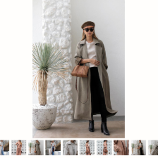 【room306 CONTEMPORARY】Suede Long Trench