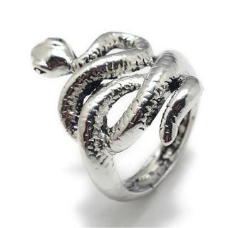 蛇 スネーク スパイラル シルバーリング レトロ(リング(指輪))