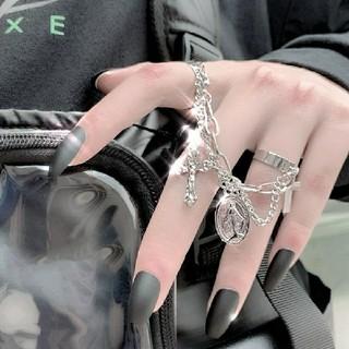 フリーサイズ クロス マリア リング 指輪