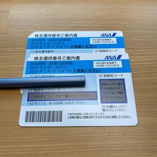 ANA(全日本空輸) - ANA株主優待券(有効期間2020年5月31日まで)2枚