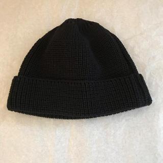コモリ(COMOLI)の新品 LEUCHTFEUER WALFANGER 黒(ニット帽/ビーニー)