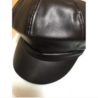 革帽子 韓国ファッション(キャップ)