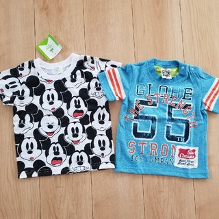 ニシマツヤ(西松屋)の新品 Tシャツ 2枚セット(Tシャツ/カットソー)