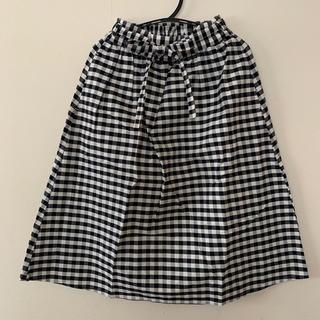 GU - チェックのスカート 140