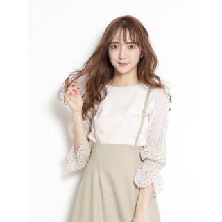 Rirandture - カットワーク刺繍袖透けニット