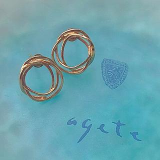 agete - agete k10 ピアス