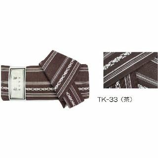ワンタッチ角帯献上柄 綿100%作り帯 着物浴衣角帯(浴衣帯)