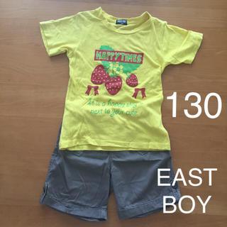 イーストボーイ(EASTBOY)の【130 2点】EAST BOY ショートパンツ 茶色 ブラウン 黄色 Tシャツ(パンツ/スパッツ)