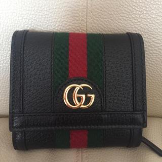 Gucci - グッチ オフィディア 折り財布 ブラック 美品