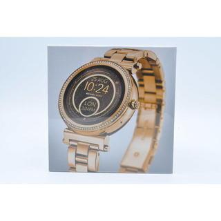 マイケルコース(Michael Kors)の☆新品☆スマートウォッチ☆マイケルコース MKT5021☆イエローゴールド☆(腕時計)