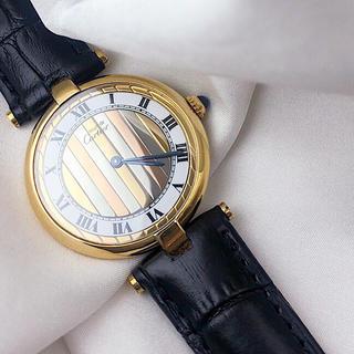 Cartier - 【仕上済】カルティエ ヴァンドーム トリニティ文字盤 レディース 腕時計