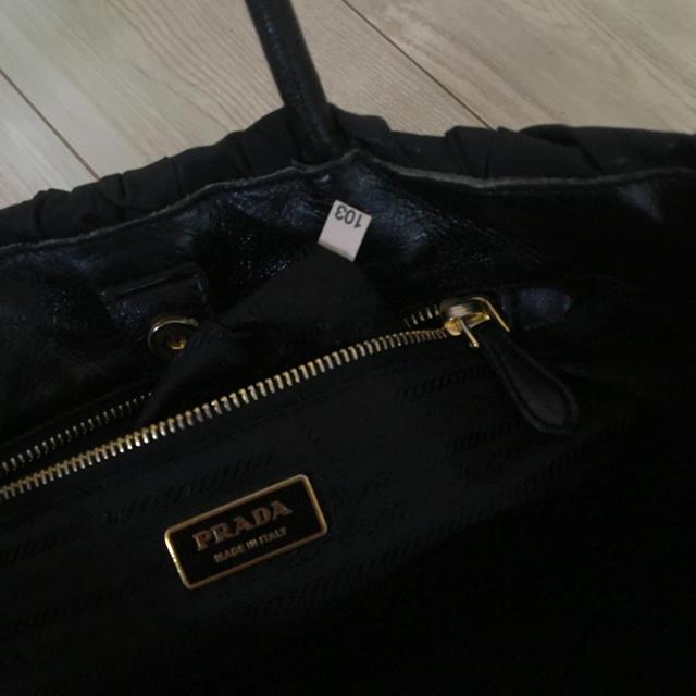 PRADA(プラダ)のPRADA レザー×ナイロン トートバッグ レディースのバッグ(トートバッグ)の商品写真