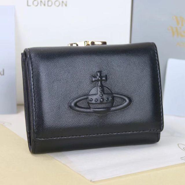 Vivienne Westwood(ヴィヴィアンウエストウッド)のヴィヴィアンウエストウッド 折財布 がま口財布 型押し レディースのファッション小物(財布)の商品写真