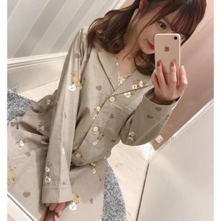 エブリン(evelyn)の着るだけで可愛いくまさん柄のパジャマ♡ハートも散りばめられガーリーなデザイン♡(ルームウェア)
