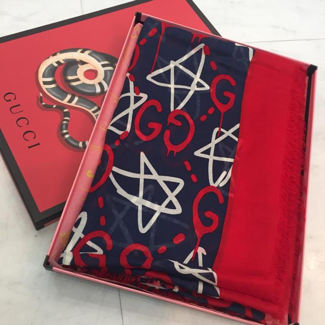カルティエ時計赤スーパーコピー,Gucci-☆なーお様専用☆GUCCIゴースト大判ストールネイビーx赤の通販