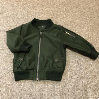 西松屋 - ざっくぅ様専用 90センチ MA-1ジャケット ユニクロレギンスセット