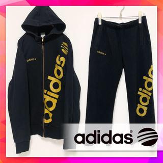 adidas - 《激レア》アディダスネオ◎上下セットアップ◎黒金ラメ入りジャージスウェット