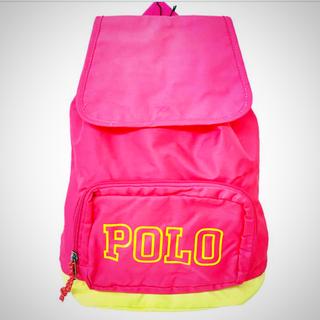 ポロラルフローレン(POLO RALPH LAUREN)の新品・ポロラルフローレン バックパック リュックサック ピンク×イエロー (リュックサック)