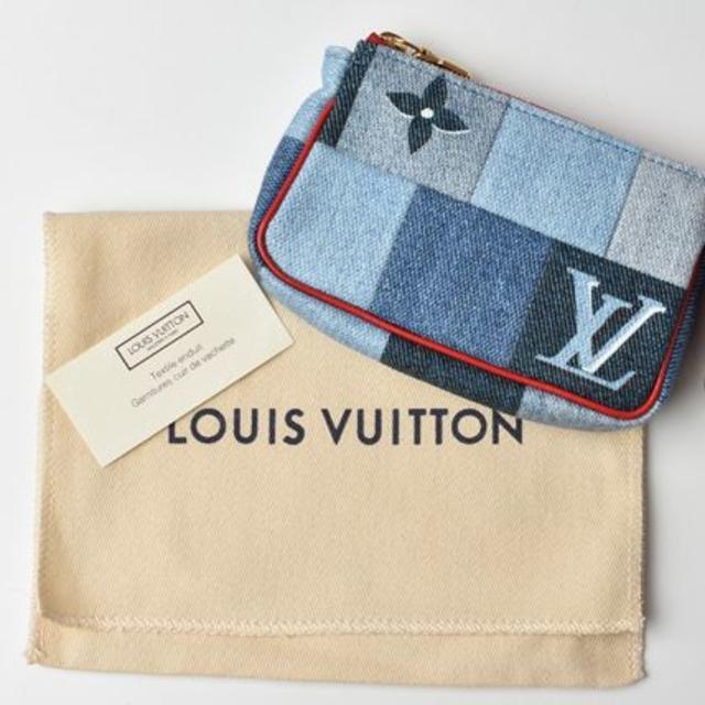 LOUIS VUITTON(ルイヴィトン)のルイヴィトン 小銭入れ/キーケース デニム・モノグラム 未使用 M68760 レディースのファッション小物(コインケース)の商品写真