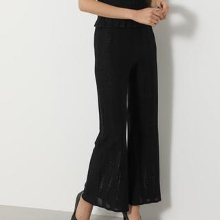 rienda - Shiny Knit J/W Wide PT -R