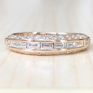 ✨スマート✨合計0.93ct❣️ダイヤモンド ダイヤ K18 リング 指輪