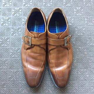 HAWKINS - ホーキンス ビジネスシューズドレスシューズ 革靴 茶 ブラウン キャメル メンズ