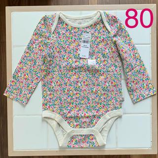 babyGAP - GAP ロンパース 肌着 花柄 80