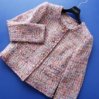 ANAYI - ■アナイ■ 38 ピンクマルチMix ツイードジャケット