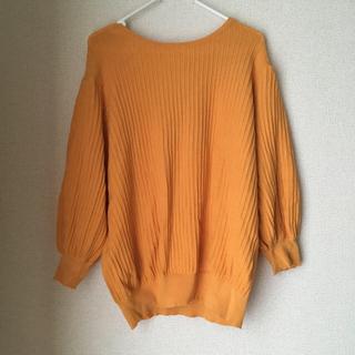LEPSIM - lepsim バルーン袖ニット 黄色