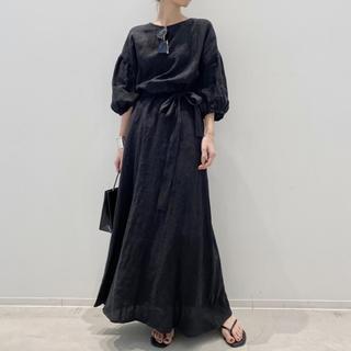 L'Appartement DEUXIEME CLASSE - L'Appartement Linen Madam Dress☆ブラック