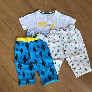 mou jon jon - ムージョンジョン半袖Tシャツ ハーフパンツ 新品三点セット 130 男の子福袋