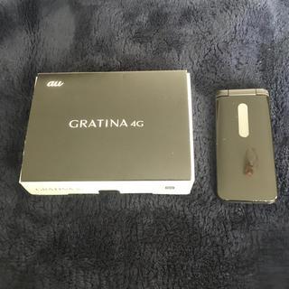 キョウセラ(京セラ)のSIMロック解除済 GRATINA 4G KYF31 黒 au ガラホ(携帯電話本体)