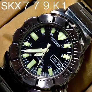 SEIKO - セイコ diversブラックモンスタXテーションブレス美品SKX779K1