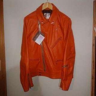 Lewis Leathers - 42 ルイスレザー サイクロン タイトフィット オレンジ ホース CYCLONE