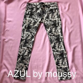 AZUL by moussy - アズールバイマウジー 柄スキニー