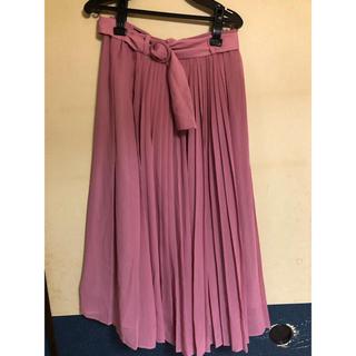 ジャスグリッティー(JUSGLITTY)のJUSGLITTY ベルト付きプリーツスカート(ロングスカート)