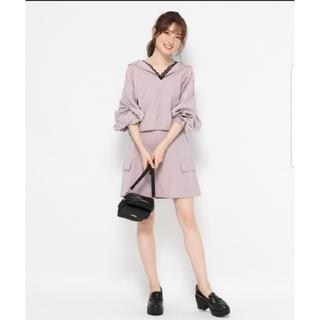 ヘザー(heather)の新品ヘザー♡ピーチキモウサイドポケミニスカート♡パープル♡(ミニスカート)