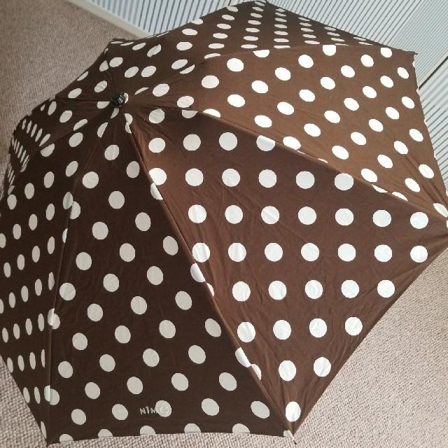mina perhonen(ミナペルホネン)のNIMESニーム/大きなドットのブラウン晴雨両用折り畳み傘 レディースのファッション小物(傘)の商品写真