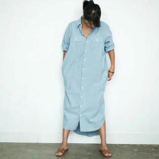 マディソンブルー(MADISONBLUE)のMADISON BLUE マディソンブルー★シャツワンピース サイズ00(ロングワンピース/マキシワンピース)