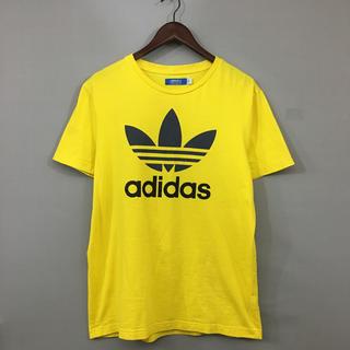 アディダス(adidas)のアディダス adidas Tシャツ 半袖 丸首 プリント トレフォイル イエロー(Tシャツ/カットソー(半袖/袖なし))