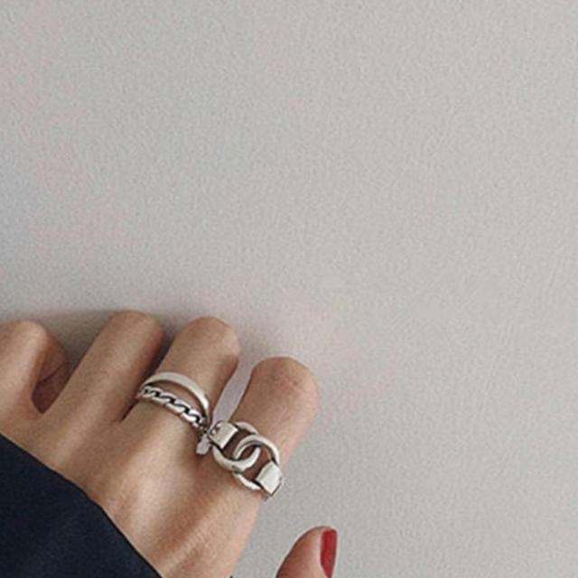 TODAYFUL(トゥデイフル)の高品質シルバーリングS925★NEW×2専用 レディースのアクセサリー(リング(指輪))の商品写真