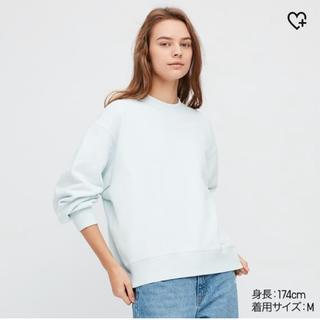 UNIQLO - UNIQLOスウェットクルーネックシャツ新品未使用ライトブルーXL
