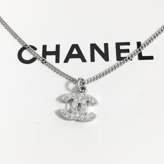 CHANEL - 正規品 シャネル ネックレス シルバー ココマーク ラインストーン 銀 ロゴ 5
