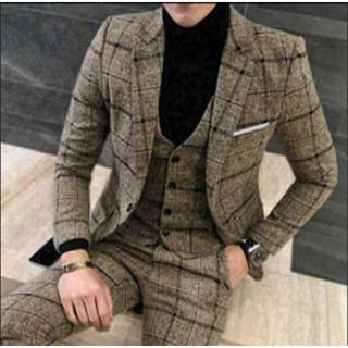 スーツ セットアップ 3点セット イエロー 黄色 ビジネス フォーマル オシャレ(セットアップ)