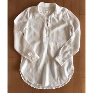 GAP - ★GAP★リネンスキッパーシャツ♪長め丈♪白ホワイト