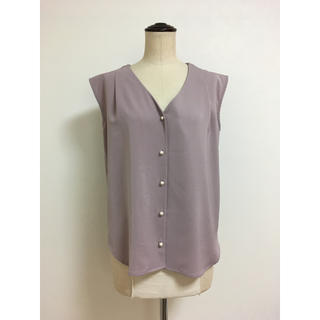 Doux archives - [洗える]DOUX ARCHIVES 美品 ノースリーブとろみシャツ