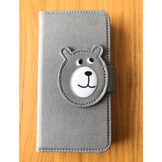 コーエン(coen)の【最終値下げ】coen iphoneX スマホ手帳型ケース BEAR グレー(iPhoneケース)