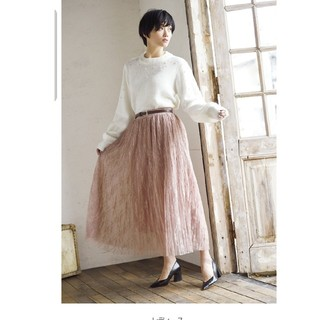 しまむら - 新品 しまむら 宮城舞コラボ花柄レーススカート M