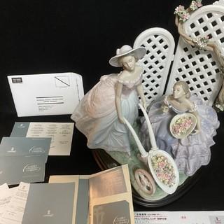 【大型作品】 リヤドロ「ロマンティック ガーデン」
